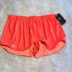 Neon orange reversible Under Armour Shorts